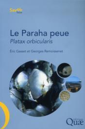Le paraha peue ou platax orbicularis ; biologie, puche, aquaculture et marche - Couverture - Format classique