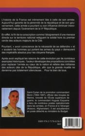 Replacer L'Armee Dans La Nation - 4ème de couverture - Format classique