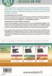 L'analyse et le résumé d'un article de recherche ; UE 3.4, semestre 4 - 4ème de couverture - Format classique