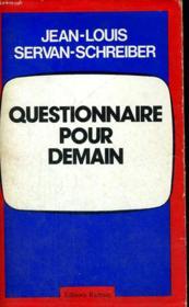 Questionnaire pour demain - Couverture - Format classique