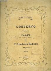 Concerto Pour Piano - Couverture - Format classique