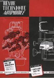Revue Technique Automobile - N°247 - Couverture - Format classique