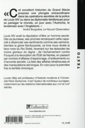 Les secrets de Louis XIV ; mystères d'Etat et pouvoir absolu - 4ème de couverture - Format classique