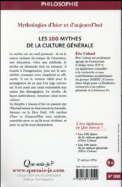 Les 100 mythes de la culture générale (2e édition) (2e édition) - 4ème de couverture - Format classique