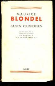 Pages Religieuses. - Couverture - Format classique