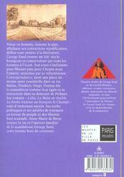 George Sand ; un diable de femme - 4ème de couverture - Format classique