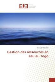 Gestion des ressources en eau au togo - Couverture - Format classique