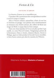 Histoire d'amour - 4ème de couverture - Format classique