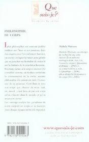 Philosophie du corps - 4ème de couverture - Format classique