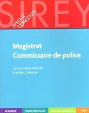 Special Concours ; Magistrat Commissaire De Police - Intérieur - Format classique