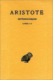 Météorologiques t.1 ; livres 1 à 2 - Couverture - Format classique
