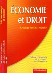 Economie Et Droit 2de Professionnelle - Intérieur - Format classique