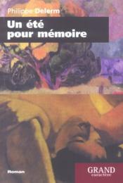 Un Ete Pour Memoire - Couverture - Format classique
