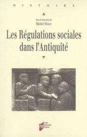 Les régulations sociales dans l'antiquité - Intérieur - Format classique