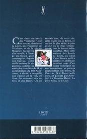 Maurice genevoix - 4ème de couverture - Format classique
