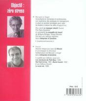 Objectif : Zero Stress. 38 Nouvelles Chroniques Illustrees -Tome 9 - 4ème de couverture - Format classique