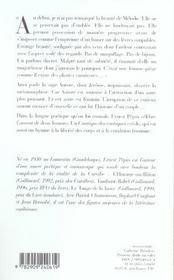 Cantique des tourterelles - 4ème de couverture - Format classique