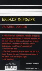 Brigade mondaine t.315 ; traquée, forcée - 4ème de couverture - Format classique