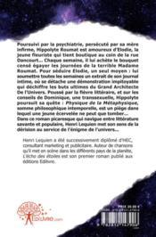 L'Echo Des Etoiles - 4ème de couverture - Format classique