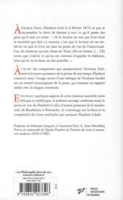 Flaubert ; éthique et esthétique - 4ème de couverture - Format classique