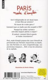 Paris mode d'emploi ; bobos, néo-bistro, paniers bio et autres absurdités de la vie parisienne - 4ème de couverture - Format classique
