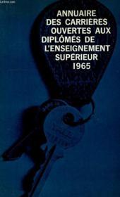 Annuaire Des Carrieres Ouvertes Aux Diplomes De L'Enseignement Superieur - Couverture - Format classique