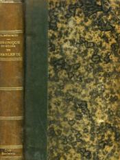 Chronique Du Regne De Charles Ix - Couverture - Format classique