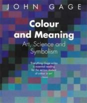 Colour And Meaning (Paperback) /Anglais - Couverture - Format classique