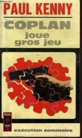 Coplan Joue Gros Jeu - Couverture - Format classique