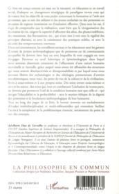 Anthropologie de l'exclusion ou l'exil de la condition humaine - 4ème de couverture - Format classique