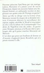 Marianne T.5 ; Les Lauriers De Flamme - 4ème de couverture - Format classique