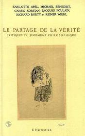 Partage De La Verite Critique Du Jugement Philo - Intérieur - Format classique