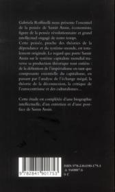 La pensée de Samir Amin - 4ème de couverture - Format classique