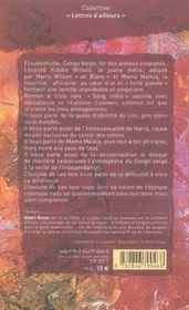 Sang mêlé ou ton fils Léopold - 4ème de couverture - Format classique