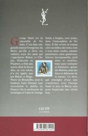 George sand - 4ème de couverture - Format classique