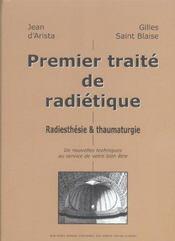 Premier traite de radietique - Intérieur - Format classique