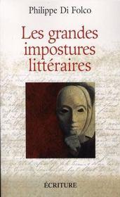 Les grandes impostures littéraires - Intérieur - Format classique