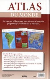 Atlas du monde - 4ème de couverture - Format classique
