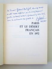 Paris et le désert français en 1972 [ Livre dédicacé par l'auteur ] - Couverture - Format classique