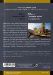 Bilbao lauaxeta tiros y besos / bilbao lauaxeta salves et sentiments - 4ème de couverture - Format classique