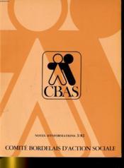 Comite Bordealis D'Action Sociale - Notes D'Information 3/82 - Couverture - Format classique