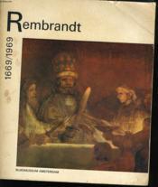Rembrandt 1669/1969 - Couverture - Format classique