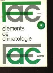 Elements De Climatologie - Couverture - Format classique