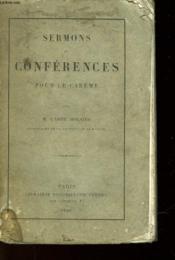 Sermons Et Conferences Pour Le Careme - Couverture - Format classique