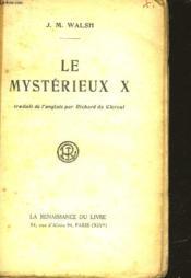 Le Mysterieux X - Couverture - Format classique