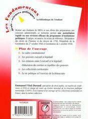 Memento Des Institutions Politiques Francaises - 4ème de couverture - Format classique