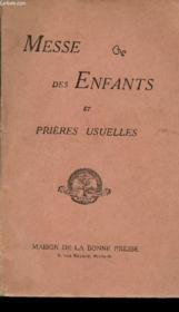 Messe Des Enfants Et Prieres Usuelles - Couverture - Format classique
