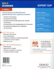 DCG 5 économie ; manuel et applications - 4ème de couverture - Format classique