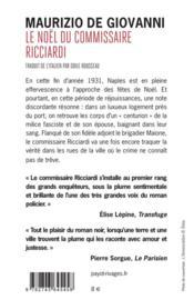 Le Noël du commissaire Ricciardi - 4ème de couverture - Format classique