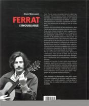Jean Ferrat, l'inoubliable - 4ème de couverture - Format classique